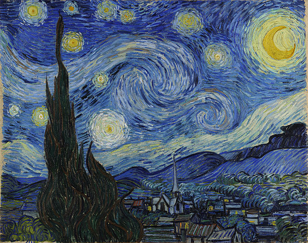 Starry Night by Vincent van Gogh Oil on Canvas, June 1889 Museum of Modern Art, New York