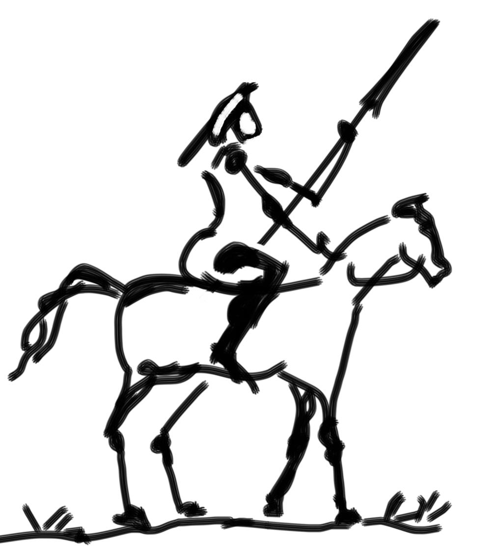 a sketch of Don Quixote