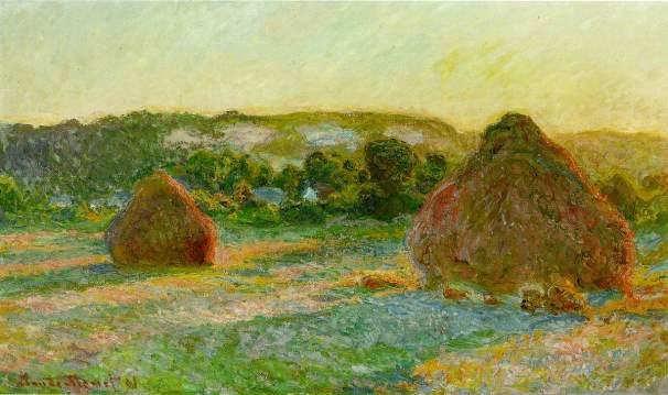 Stacks of Wheat (End of Summer) by Claude Monet - 1897 60 × 100 cm (Art Institute of Chicago)