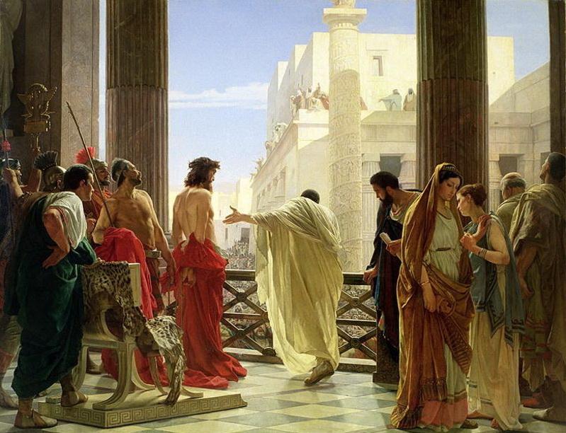 "Ecce Homo ""Behold the Man"" by Antonio Ciseri (oil on canvas)"