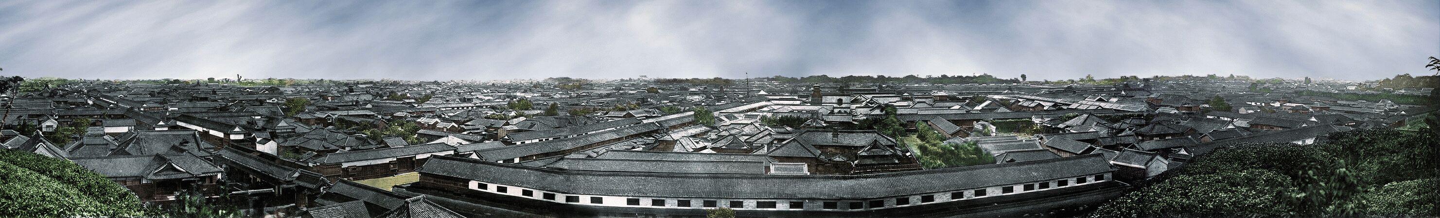 Panorama of Edo from Atagoyama by Felice Beato (1865 or 1866)